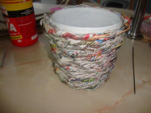 Как сделать горшки для цветов из пластиковых ведер