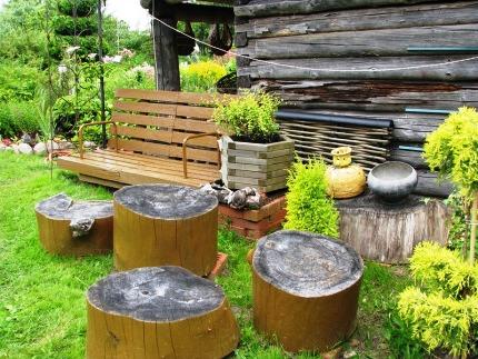 деревянные поделки для дачи