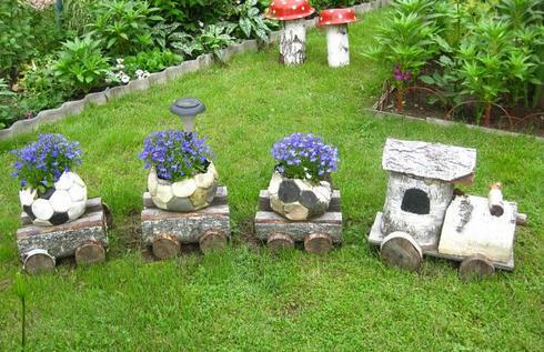 Украшение огорода своими руками из подручных материалов фото
