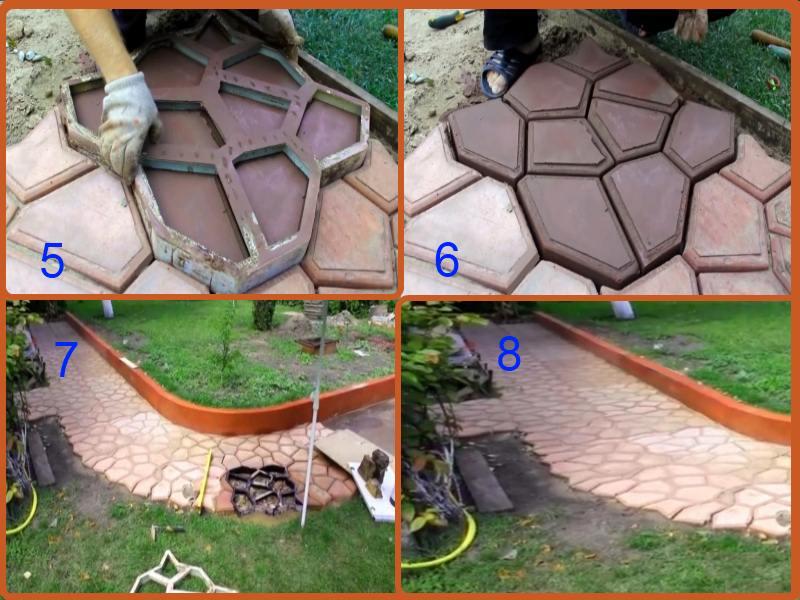 Как сделать садовую дорожку из бетона своими руками 9