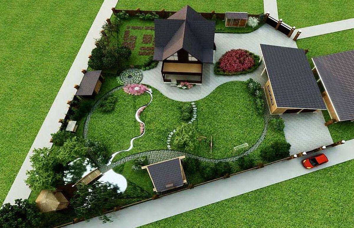 15 соток ландшафтный дизайн