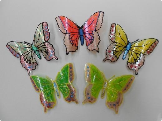 Бабочки пластиковых бутылок своими руками