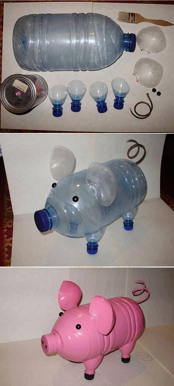 Поделка из пластиковой бутылки для детского сада новогодняя
