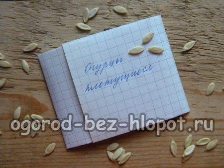 Как собрать семена огурцов