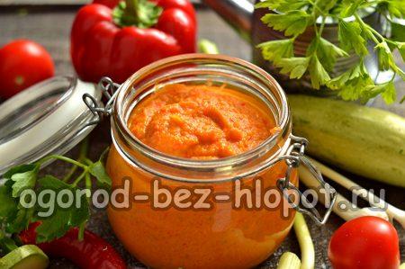 Икра кабачковая, рецепт на зиму с майонезом и томатной пастой