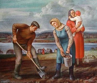 посадка под лопату