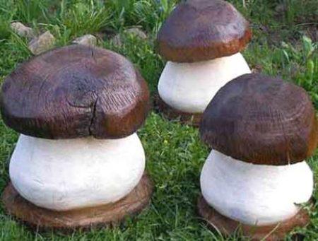 деревянные грибочки для дачи