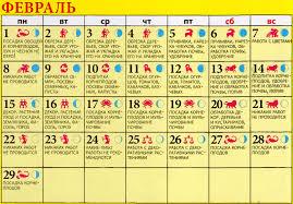 Лунный посевной календарь на февраль 2020 года садовода