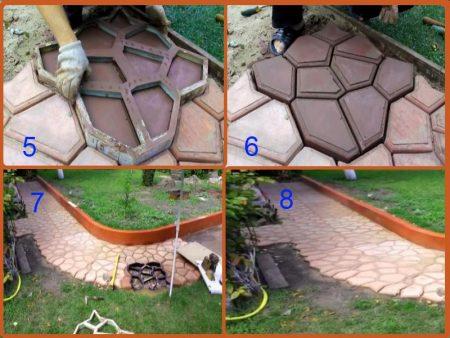 как сделать садовую дорожку с формой