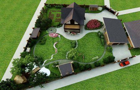 Ландшафтный дизайн дачного участка 10 соток своими руками, фото
