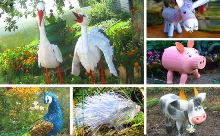 Поделки из пластиковых бутылок для сада и огорода: фото и описание