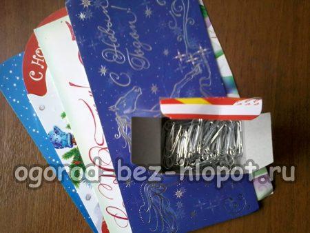 скрепки и открытки для изготовления штор