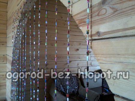 Дачные шторы из скрепок своими руками