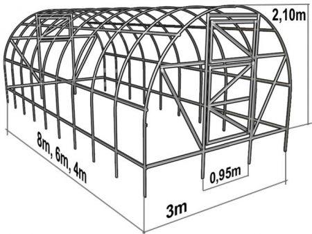 чертежи теплицы из поликарбоната