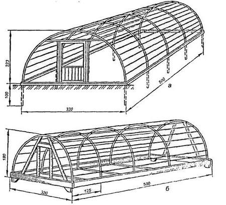 Теплица чертеж из профильной трубы