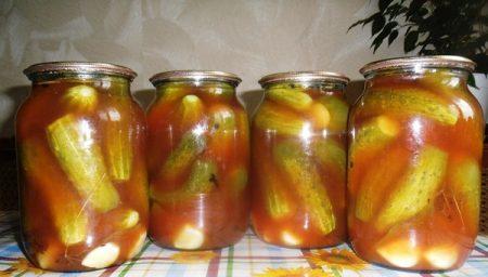 Огурцы в томате