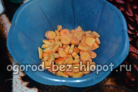 Шинкованная морковь