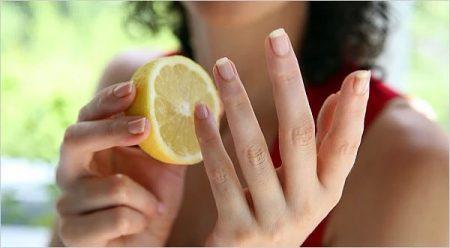 лимон для рук