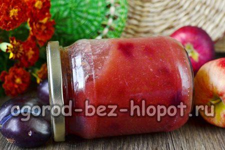 яблочно-сливовый джем