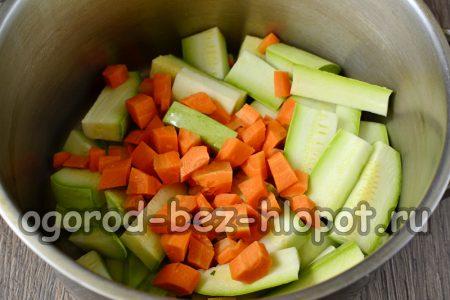Морковь с кабачком