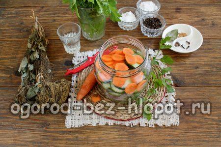 Добавляем в банку морковь
