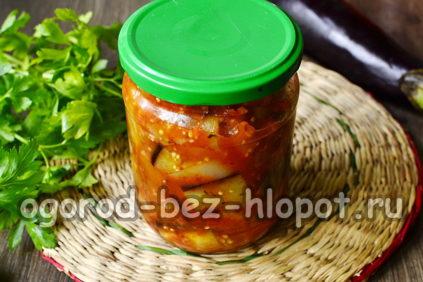 овощное рагу из баклажан