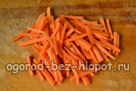 Морковь соломкой