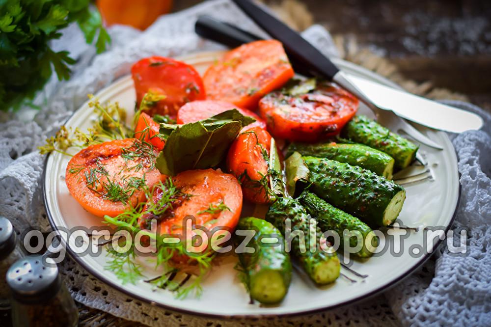 Огурчики и томаты