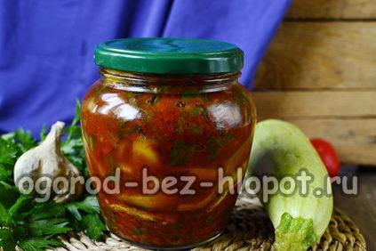 жареные кабачки в томатном соусе