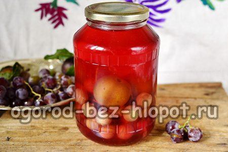 сливовый компот с виноградом