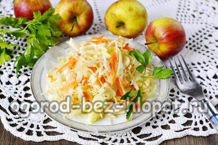квашеная капуста с яблоками готова