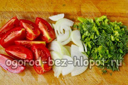 режем все овощи
