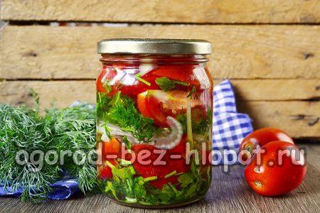 осенний салат из помидоров готов