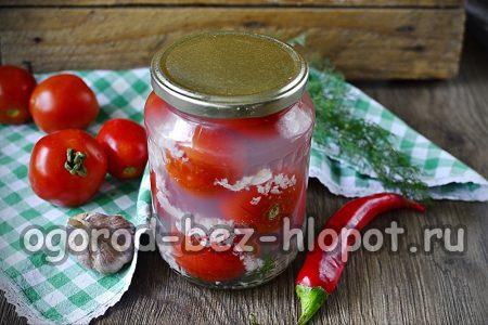 помидоры с чесноком на зиму