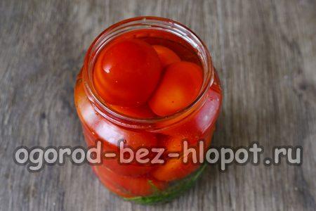 залить томаты водой
