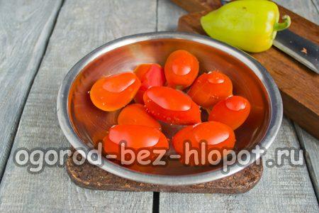 помидоры залить кипятком