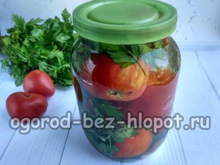вкусные помидоры в банке