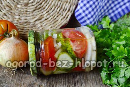 Салат из огурцов и помидор на зиму Пальчики оближешь без стерилизации