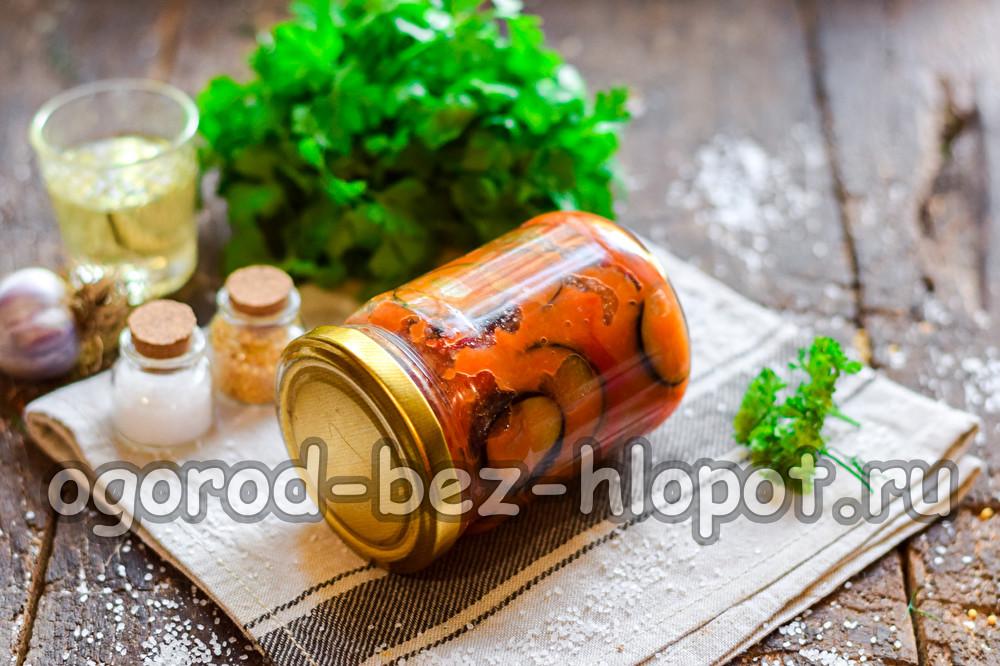 """Салат """"Кобра"""" из баклажанов"""