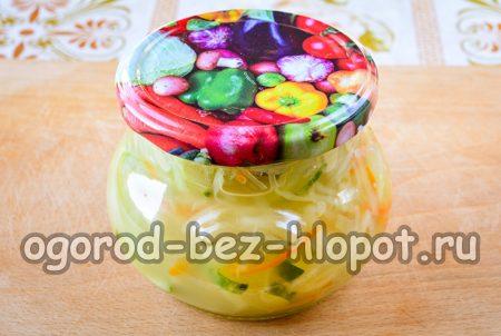закатать крышками салат