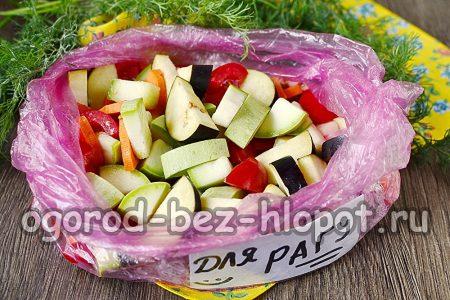 заморозка для овощного рагу