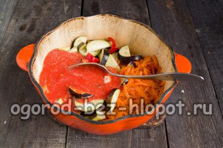 овощи тушим в жаровне