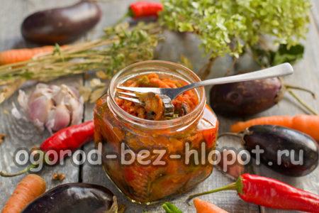 готовый салат из баклажанов и перца