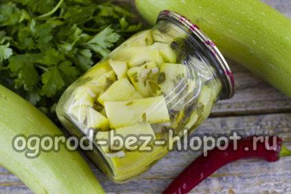 кабачки с горчицей и чесноком