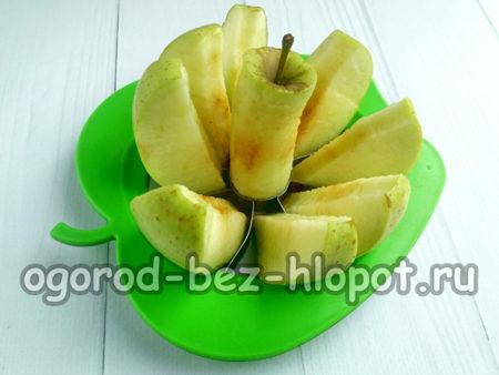 яблоко разрезать