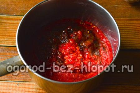 сливы и помидоры измельчить