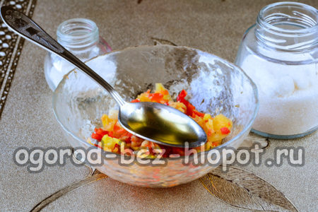 измельчить овощи для заливки