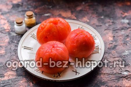 с томатов снять кожицу