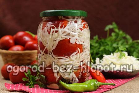 готовые помидоры с капустой