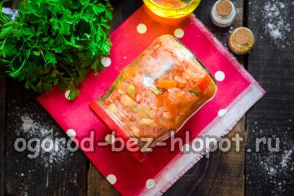салат с кабачками и рисом